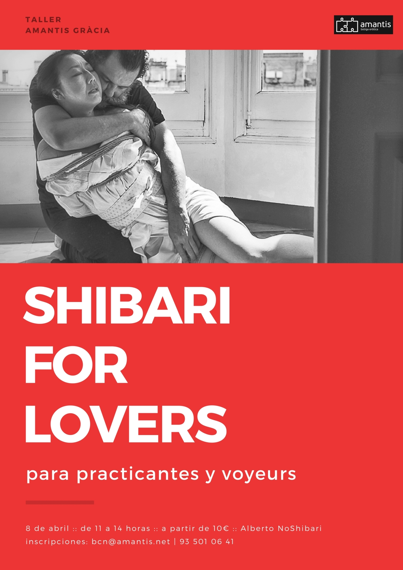 Taller Shibari con Alberto NoShibari