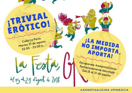 Trivial erótico en las Fiestas de Gràcia 2018